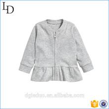 Abrigo corto liso de manga larga de la chaqueta de algodón bebé para niños
