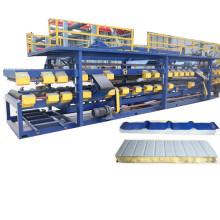 linha de produção de painel de sanduíche galvanizado