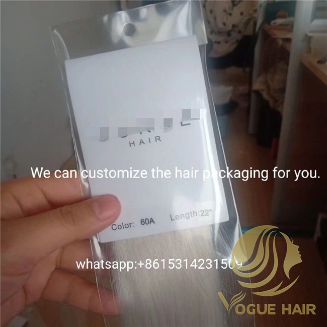 hair extensions bags packaging