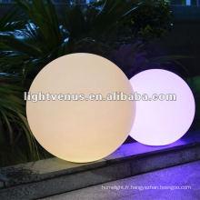Lumière de boule rechargeable imperméable de 25cm IP68 LED de 25cm