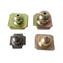 sheet metal customized 2 sided / 4 sided pallet feet nesting plugs for steel pallet