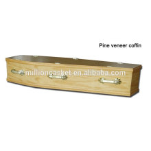 European style pine veneer coffin private plans fashion modeling