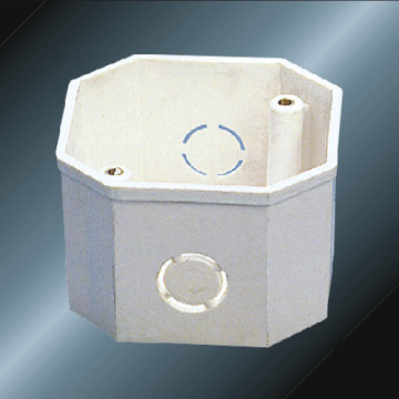 Conducto Upvc Octagon Outlet Box Color Blanco