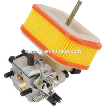Good-quality carburetor and paper air filter 1E40F-5A brush cutter spare parts