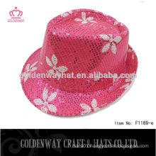 pink sequin fedora paper party hat