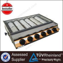 Heißer Verkauf-Hochleistungsgrill-Küchen-Ausrüstungs-Gasgrill mit 6 großem Brenner-Gasgrill