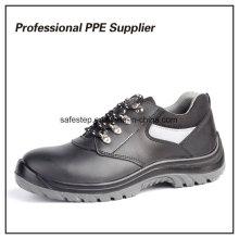 Двойной плотности ПУ инъекций натуральной кожи ботинки безопасности