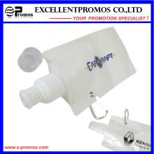Botella de agua plegable plegable plástica flexible personalizada de 16oz con el mosquetón (EP-B7154)