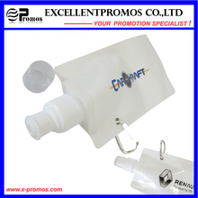 Bouteille d'eau pliable rabattable flexible en plastique personnalisée de 16 oz avec mousqueton (EP-B7154)