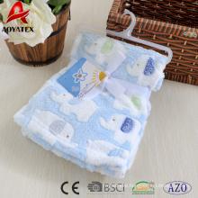 100% polyester coral fleece baby blanket