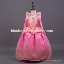 el vestido autora de la belleza durmiente del color rosado embroma el vestido de la princesa para la ropa del partido