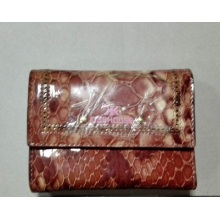 Guangzhou Supplier Real Leather Mini Purse Wallet (W185)