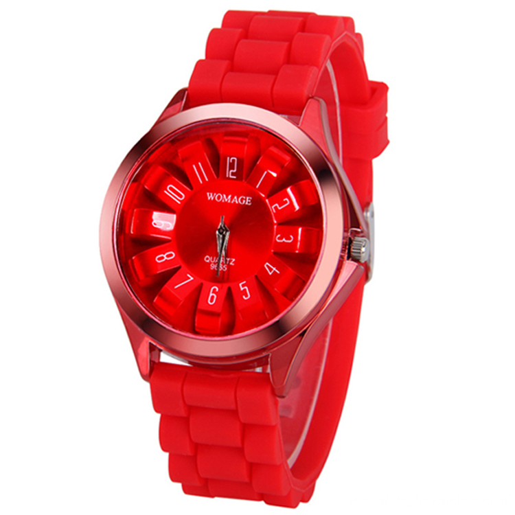 Wholesale Girls Rubber Quartz Analog Wrist Watches