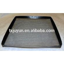 PTFE revestido com fibra de vidro antiaderente grelha grelha de forno com bordas de protecção