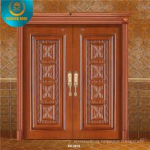 China Puerta de madera principal doble de lujo para Villa