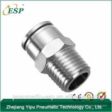 China brass pneumatic male straight fitting