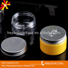 aluminum cap 110ml plastic PET transparent jar