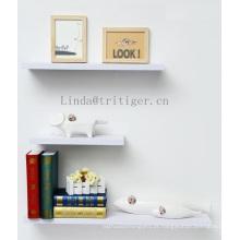 Prateleiras de chuveiro flutuante de madeira da parede da placa do MDF