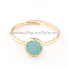 Bagues réglables à la mode en anneau d'opale