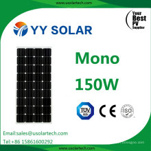 Yy Solar High Efficiency Best Price 150watt Mono Solar Energy