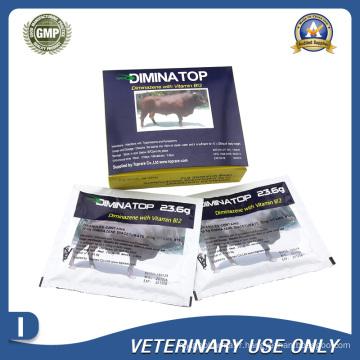Médicaments vétérinaires de poudre injectable Diminazene (23,6g / Sachet)
