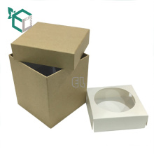 Kundengebundener Papierverpackungs-Handwerksflaschen-Geschenkkasten der hohen Qualität quadratischer