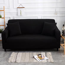 Solid Black Color Cheap Price Spandex Elastic Sofa Cover in 1 2 3 4 Seater
