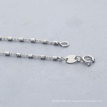 Atacado melhor venda de jóias 925 colar de corrente de prata esterlina
