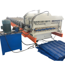 New type metal glazed tile roofing roll forming machinery price