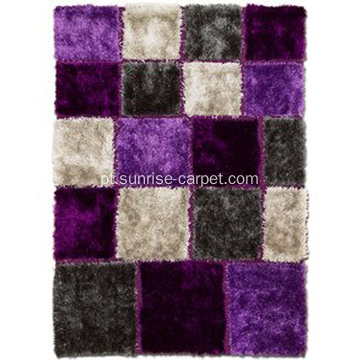 Tufted Carpet Purple & Grey Area Rug