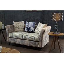 Sofa de club de nuit de cuir d'unité centrale de loisirs pour deux places (FOH-CBCK63)