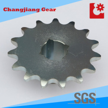 Industrial Transmission Standard Stock Zinc Chain Sprocket with Square Hole