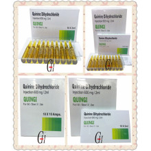 600mg/2ml Antiparasitic Quinine Dihydrochloride Injection