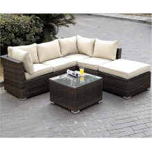 4 Pieces Patio Sectional Furniture Wicker Sofa Set