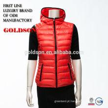 Lady down vest Fashion winter coat factory 2017 design