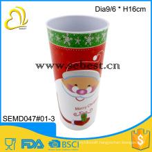 christmas party wholesale round high drinking tumble melamine red mug