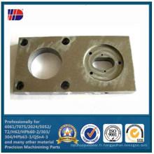 Connecteurs en alliage d'aluminium de pièces de machine de précision CNC