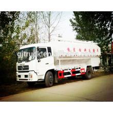 Camión de reparto de la alimentación del bulto de 15T Dongfeng / camión de reparto de la alimentación animal a granel / carro del portador de la alimentación a granel / camión del transporte de la comida de animal a granel