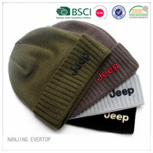 100 % Baumwolle Jeep Knitted Cuff Hat