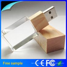 Full Capacity 1GB-64GB Crystal USB Flash Driver 2.0 USB Memory