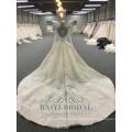 Роскошные кружева с длинным рукавом свадебные платья Китай сшитое vestidos де novia свадебное платье