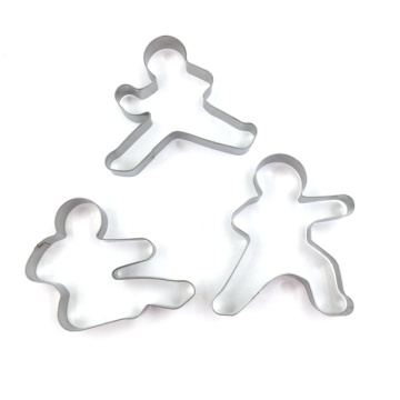 Cortador de galletas de acero inoxidable Gingerbread Man 3pcs