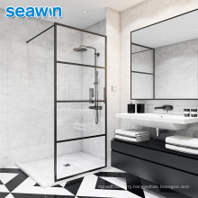 Seawin Hotel Brushed Stainless 8Mm Tempered Safety Glass Cubicle Shower Doors