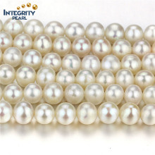 Freshwater Loose Pearl Strands Atacado 7mm Near Round Natural Pearl String