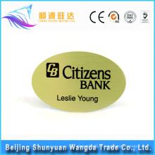 Crachá feito sob encomenda do Pin da fonte dos fabricantes do emblema para o crachá da identificação e o emblema conhecido
