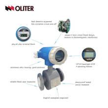 Caudalímetro magnético de las aguas residuales del contador de flujo electromagnético del agua digital con la brida electrónica