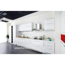 Armário de cozinha de melamina branco de madeira moderna