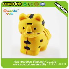 2014 Новый дизайн Free Sample Yellow Tiger Eraser
