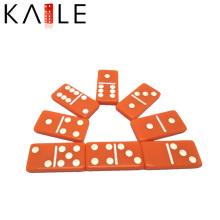 Benutzerdefinierte Orange Acylic Domino Stück Fabrik