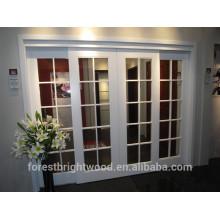 Porta francesa de vidro interior em cor branca com 10 lite